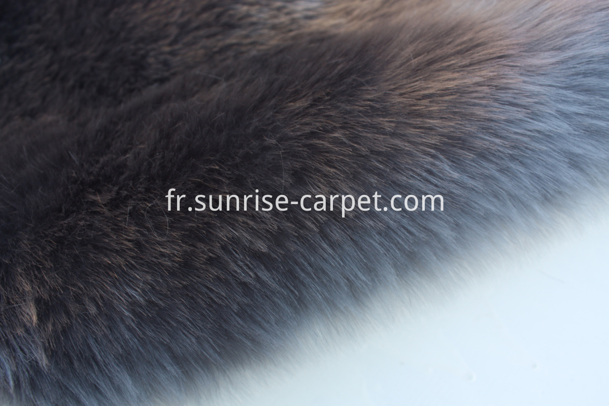Imitation Fur Carpet Grey color
