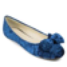Tela de terciopelo planos cuadrados dedo del pie zapatos de mujer zapato de buena calidad bailarina