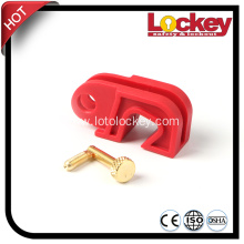 Easily Installed Circcuit Breaker Lockout without Tools