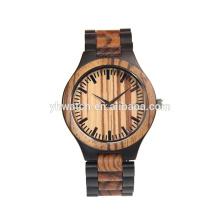 Китай изготовление фабрики оптовые деревянные часы черное дерево и сандал