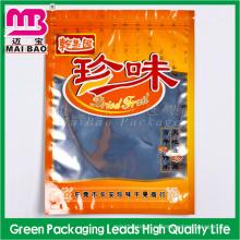 Алюминиевой фольги Пластиковые молнии мешок упаковки еды с ясным окном