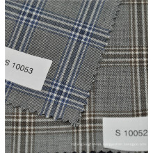 Anti-static hot sale worsted 70%wool 30%polyester plaid wool suit fabric
