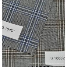 Venda quente antiestática lã penteada 70% lã 30% poliéster xadrez lã terno tecido