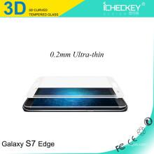 Fornecimento direto da fábrica !!! Protetor de tela de vidro temperado curvo 3D para samsung s7 edge