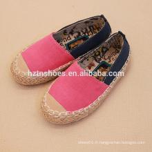Chaussures de toile décontractées pour enfants simples pour enfants en espadrille chaussures en gros