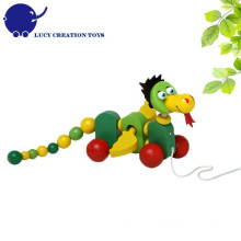 Toddler Toy Wooden Dragon Pulling Walk-Along Toy