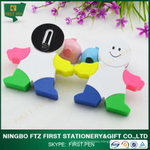 FIRST H058 Cute Design Man Shape 5 in 1 Highlighter For Kids