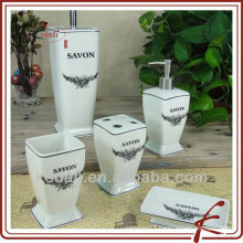 flower ceramic bath gift set