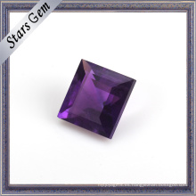 Abalorio de piedras preciosas de amatista natural de corte brillante violeta profundo
