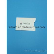 Folha de alumínio de papel RFID bloqueio titular da bolsa de manga