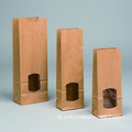 Jendela Kraft Paper Block Bottom Bags