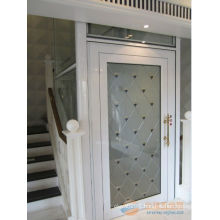 Small home elevator with safety glass car wall