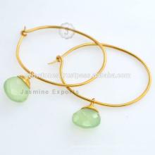 Sterling Silver Gemstone Jewelry Vermeil pendientes de oro plateado pendientes