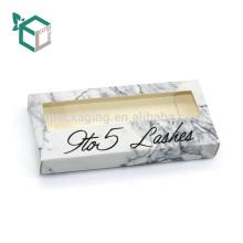 Caja de empaquetado de encargo de la cartulina de papel de las pestañas de papel de encargo del arte con la bandeja interna