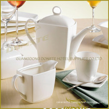 9 PCS White Porcelain Dinner Set