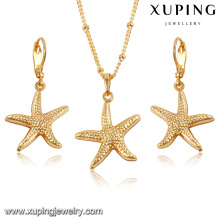 61603-Xuping Fashionable Starfish Wedding Earring Necklace Jewelry Set