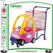 Carro de supermercado para niños con carro de juguete para la tienda al por menor