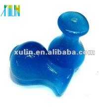 Perles en verre au chalumeau bleu Vase gros