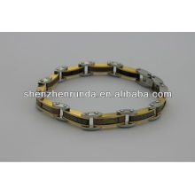 Neues Produkt, 2014 Mode Edelstahl Magnet Armband mit Symbol, charmant für Männer Armband
