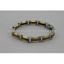 Novo produto, moda 2014 pulseira de aço inoxidável magnética com símbolo, charmoso para os homens pulseira