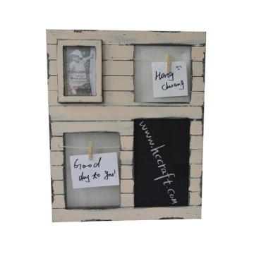 Wooden Wall Art with Photo Frame for Home Decoration