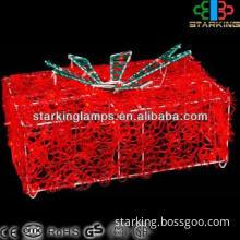 3D acrylic gift box LED Motif Light indoor decoration