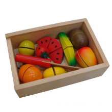 Jouet en bois de coupe de fruits