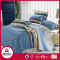 A-B side red and dark blue grid bedding set,90gsm 100% polyester king size bedsheet set,Reasonable price with high quality