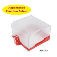 Couvercles à douille verrouillables OEM & CE Verrouillage de sécurité et étiquette pour commutateur murale Prise de boutons BD-D63