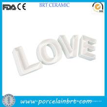 Decoração home amor cartas novidade presente placa cerâmica