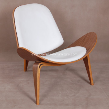 Hans Wegner CH07 Wood Shell Lounge Chair