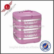 Contenedor de alimentos de acero inoxidable de 3 capas / Contenedor de alimentos de plástico