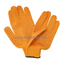 Knitted Cotton Gloves Criscross PVC Gloves Industrial Safety Work Glove