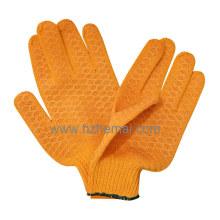 Luvas de algodão tricotadas Luvas de PVC Criscross Luva de trabalho de segurança industrial