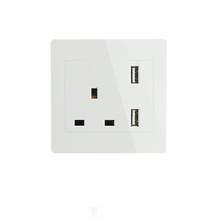 Single UK USB Wall Socket