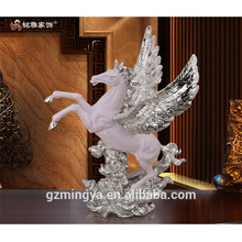 can be custmized top quality polyresin home table decorative flying horse figure