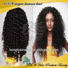 Usine prix top qualité populaire bouclés noeuds blanchis invisible hairline naturel à la recherche brésilienne Profonde Curly avant de lacet perruques