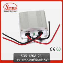 120W 12VDC-24VDC 5A Power Converter Step up Transformer