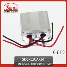 O conversor de poder de 120W 12VDC-24VDC 5A intensifica o transformador