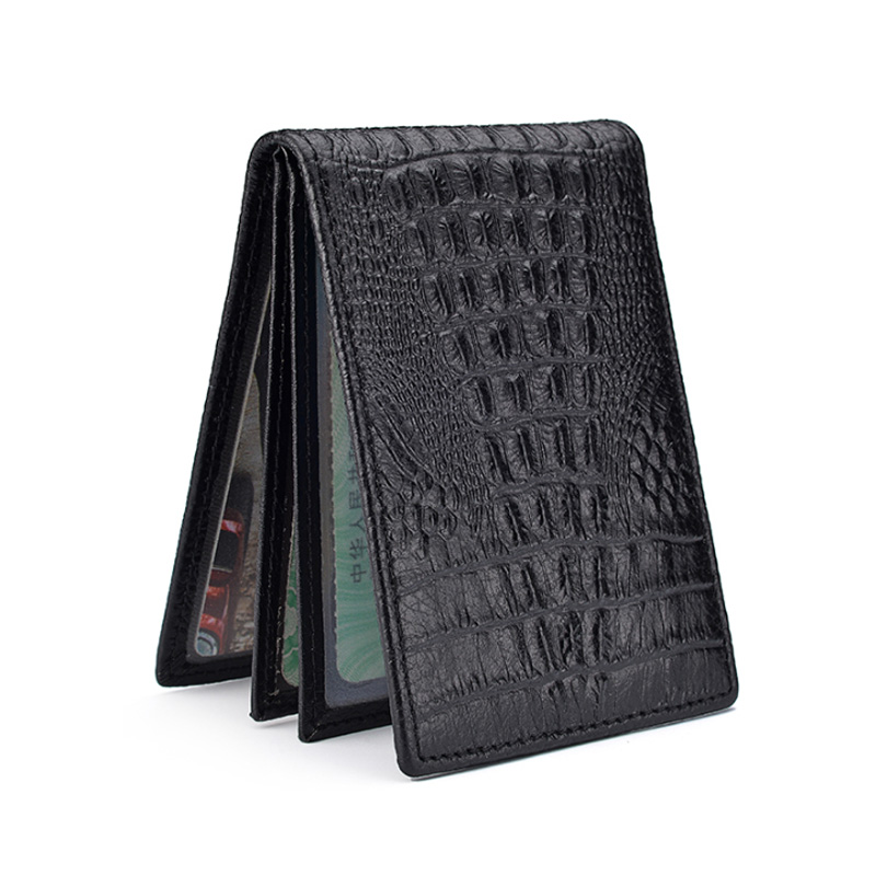 Crocodile Leather Card Holder