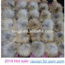 China wholesale real raccoon fur pom poms