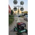 Torre de luz telescópica de inundação portátil de gerador Diesel