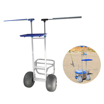 Portable Light Weight Easy Carry Aluminum Foldable Fishing Cart