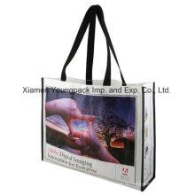 Promocionais personalizados impressos PP plástico tecido saco de compras