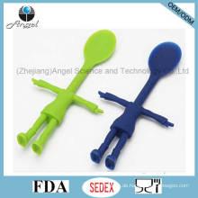 Neuer Art scherzt Silikon-Schaufel-Silikon-Löffel für Kinder Sk28