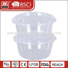 Maßgeschneiderte drucken transparente BPA frei Multi Größe Kunststoff-box