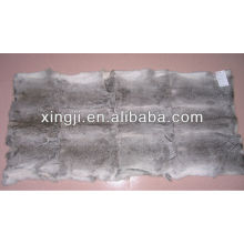Natural grey colro chinchilla rabbit fur throw wholesale