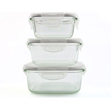 Round Pyrex Borosilicate Glass Food Container (GFC-S)