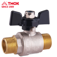 External thread Nickel plating brass ball valve