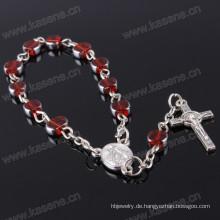 Red Flat ODM Availableoem Willkommen ein Jahrzehnt Rosenkranz Armband beten